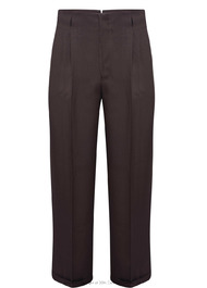 Peg Trousers in Brown Twill