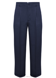 Peg Trousers in Navy Twill