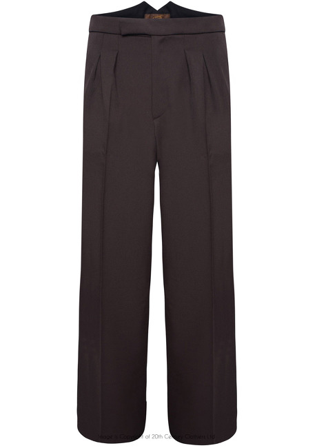 Fishtail Back Trousers - Brown Twill