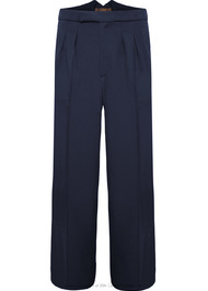 Fishtail Back Trousers - Navy Twill