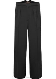 Fishtail Back Trousers - Charcoal Twill