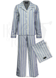 Ladies Boyfriend Pyjamas - Blue Stripe