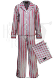 Ladies Boyfriend Pyjamas - Red Stripe